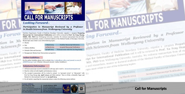 CALL FOR MANUSCRIPTS
